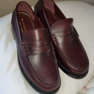 Burberry Women's Burgundy Leather Loafers size 40